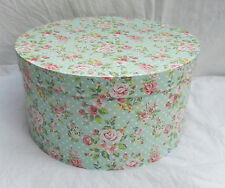 Country Rose Shabby Chic Floral Round Storage Box (E)