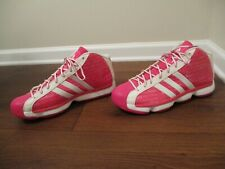 Lightly Used Size 15 Adidas Pro Model Shoes G24172 Breast Cancer Awareness Pink
