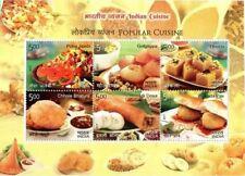 INDIA 2017 Popular Cuisine Food Gastronomy Miniature sheet  MNH