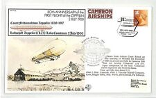 BK225 GB 1980 First Flight of the Zeppelin Cameron Airships Cover {samwells}PTS