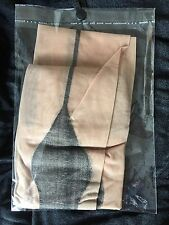 Nude with Black Backseam Seamed Stockings with Cuban Heel Vintage Style One Size