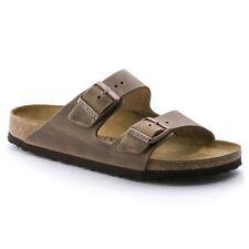 Birkenstock Arizona Nubuck Leather Oiled Unisex Shoes Slides Sandals Footbed Tabacco Brown EU 39 - UK L5.5 Regular