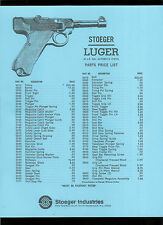 Rare Copy Vintage Stoeger Luger 22 Ca. Long Rifle Pistol Illustrated Parts List