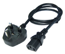 UK Plug to IEC Kettle Lead 1m Power Cord Cable PC Mains