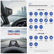 Car Dashboard & A-Pillar OBD2 GPS Car Speedometer Turbo Pressure Head Up Display