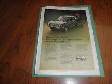 "TOYOTA COROLLA PROMO AD-""Left Rear Window""-1970-Original Magazine Print"