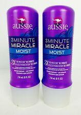 2X NEW Bottles Aussie 3 Minute Miracle Moist Deep Conditioner, 8 Fl. Oz