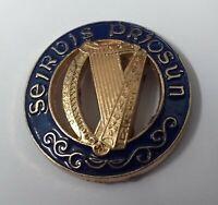 Genuine Vintage Rhodesia Regimental Insignia Gold Ring Buttons 14mm X2 V476