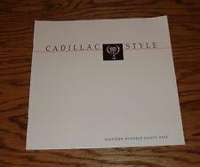 Original 1989 Cadillac Full Line Sales Brochure 89 Eldorado Fleetwood