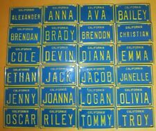 1960s California Mini Bike Vanity Metal Name License Plate sign Anna Diana Tommy