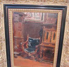 Lulves Jean 1833-1889 Mulhouse BERLIN Kunstgewerbemuseum Renaissance Interieur