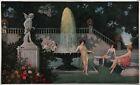 Antique 1920s Grecian Maidens Art Nouveau Early Art Deco Fantasy Pin-Up Print NR