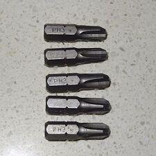 "5 x BOSCH No 3 Phillips PH3 - 1/4"" Screw Driver Tip Bit PH#3 Free AUSTRALIA Post"