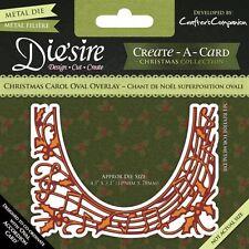 Crafters Companion DIESIRE Create a Card Die CHRISTMAS CAROL OVAL OVERLAY Music