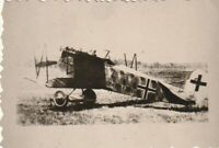 Flugzeug-Foto wk. Focke Wulf Doppeldecker Kennung Tarnbemalung mit Balkenkreuz