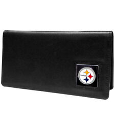 Pittsburgh Steelers Black Leather Checkbook Cover NFL Football Licensed Product
