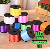 BALLOON CURLING DECORATING RIBBON- 50 METRES -ALL COLOURS-TIE STRING RIBBONS NEW