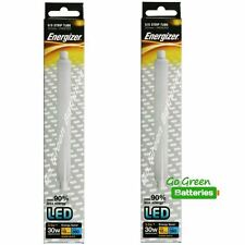 2x Energizer S15 3.5Watt LED Strip Tube 221mm 350 Lumens, Equivalent-30W Frosted