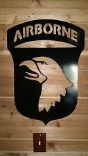 "ARMY AIRBORNE WALL  ART Decor 24"" . CNC PLASMA Metal ART HAND MADE  WACO TX"