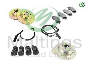 range rover sport drilled + grooved brake discs performance brake kit F+R 05-09