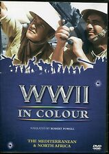 WWII IN COLOUR THE MEDITERRANEAN & NORTH AFRICA DVD NARRATED BY ROBERT POWELL