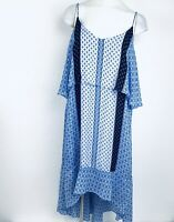 KAARI Blue Curvy High Low Women Dress. Size 1X. New With Tags
