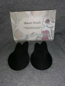 Invisible Silicone Breast Pads Lift Up Nipple Covers Rabbit Bra A cup black