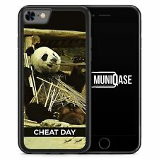 iPhone 8 Hülle SILIKON - Cheat Day Panda - Motiv Design Spruch Tiere Lustig Wit