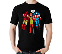 Iron-man Captain Steve Made Shaggy Rogers Use 10% super Power Black T-Shirt