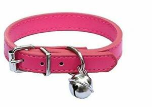 """New Pink Leather Pet Collars for CatsBaby Puppy DogAdjustable 8""""-10.5"""" Kitten..."""