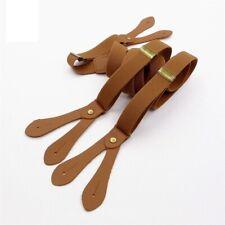 Suspender Strap England Button Strap Wide Clip Vintage Fashion Brace Personalize