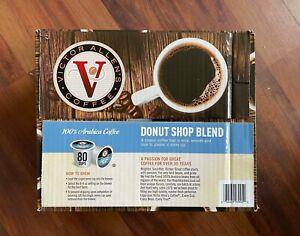 Victor Allen Donut Shop Blend Medium Roast Single Serve Coffee Pods, 80 Count