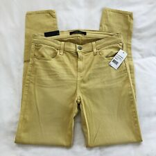 NWT J Brand Super Skinny Yellow Stretch Jeans Mid Rise Sz 30 Made In USA