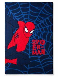 Marvel Spider-Man Web Blue Bed Sweatshirt Blanket Twin Boys Bedding New