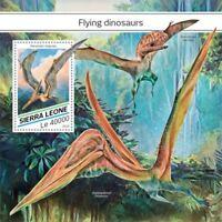 Sierra Leone - 2018 Flying Dinosaurs - Souvenir Sheet - SRL18518b