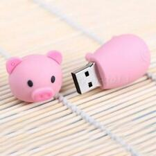64GB Cute Cartoon Pink Pig Model USB 2.0 Flash Memory Pen Drive Stick New+
