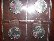 12 Quarters 25 cents coin Collection Chief Tecumseh sir Isaac Brock 2012 Canada
