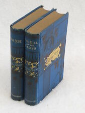 Lot of 2 George Eliot  ADAM BEDE & THE MILL ON THE FLOSS Worthington Co. 1887