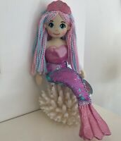 ~❤️~MERMAID DOLL Plush Soft Medium 45cms 18' Flip Sequin Toy Soft Pink CANDY~❤️~