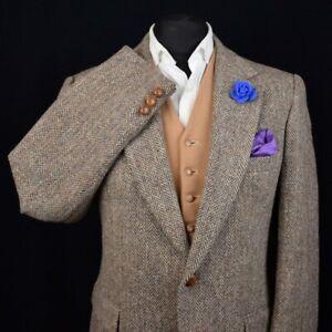Harris Tweed Tailored Country Herringbone Blazer Jacket 40R #107 IMMACULATE