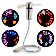 USB Fans LED RGB Programmable Message Fan For PC Laptop Notebook Desktops Mini