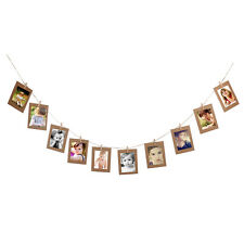 10 Paper Photo Flim Frame DIY Wall Picture Hang Album Stand Clip 6inch Khaki