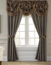 2 CROSCILL Savannah Panels Estate Drape Curtain Beige New Msrp $175 Set Savanah