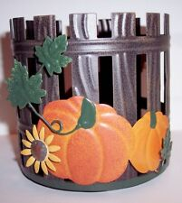New! Kohl's Sonoma Fall 2020 Pumpkins Sunflowers & Fence Candle Holder Sleeve