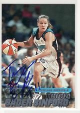 Tricia Bader Binford Cleveland Cavaliers Boise St Autographed Basketball Card