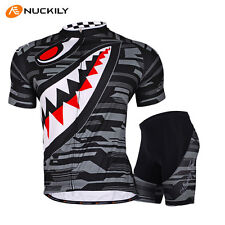 Men's Mountain Bike Sports Short Sleeves Cycling Jersey Bicycle Shorts Set Gray