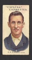 WILLS (AUS) - PROMINENT AUSTRALIAN & ENGLISH CRICKETERS - #19 J A O'CONNOR, NSW