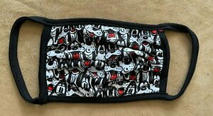 L Adult Disney LARGE Goofy Face mask cloth original characters Mickey friends