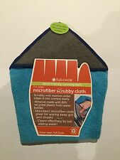 Microfibre scrubby cloth mitt cleans edges and corners absorbent earth-friendly