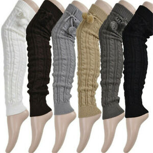 Women Winter Warm Knit Over Knee Long Boot Thigh-High Soft Leg Warmers Supplies